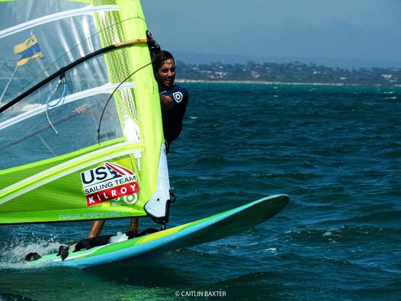 Pedro Pascual at the 2020 RS:X Windsurfing World Championships, day 3 - photo © Caitlin Baxter