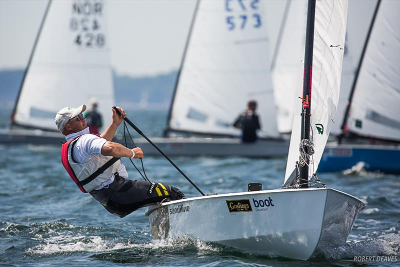 Bo Petersen during the OK Dinghy European Championship in Kiel, Germany - photo © Robert Deaves