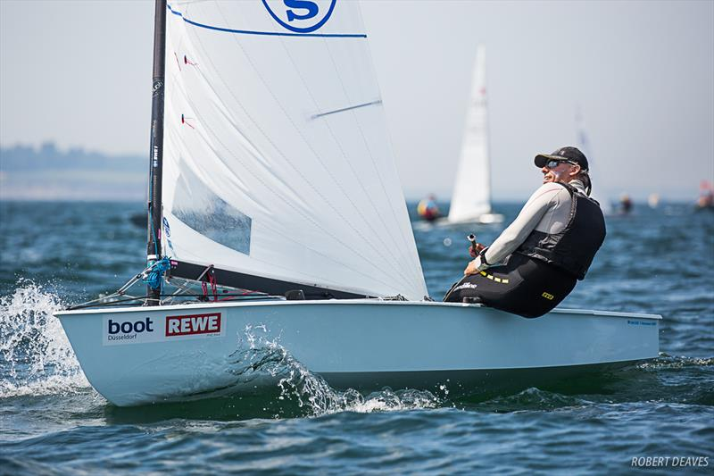 Thomas Hansson-Mild during the OK Dinghy European Championship in Kiel, Germany - photo © Robert Deaves