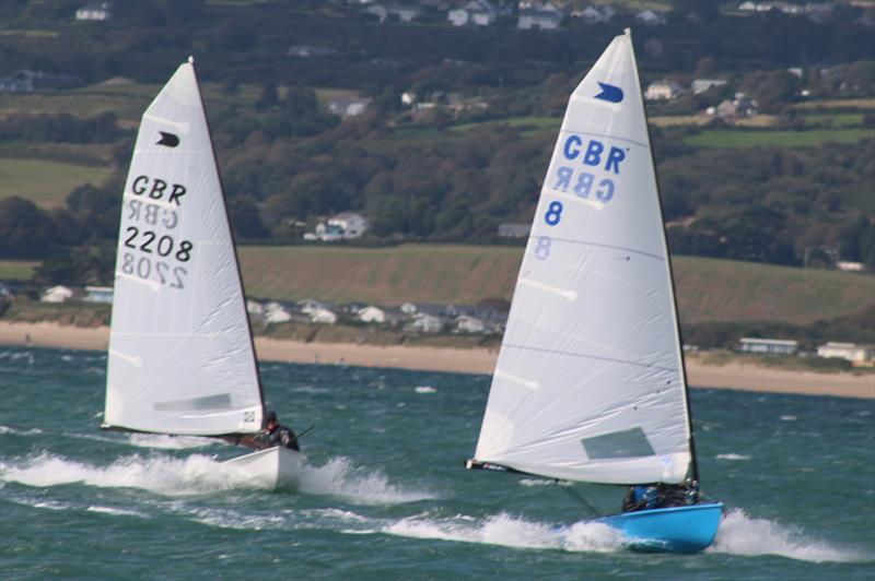 Richard Burton leads Nick Craig during the OK Nationals at Abersoch - photo © Peter Hawkins / SCYC