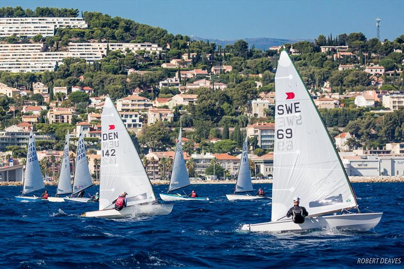 Fredrik Lööf leads Race 1 - 2018 OK Dinghy European Championship - Day 1 - photo © Robert Deaves