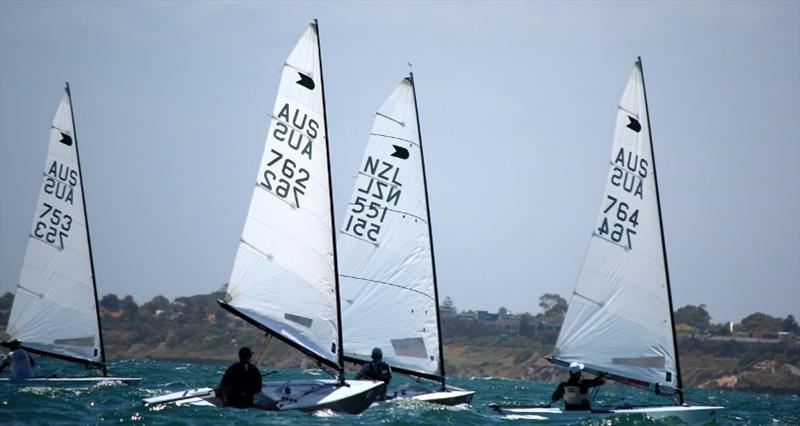 OK Dinghies racing at Black Rock - photo © Robert Deaves