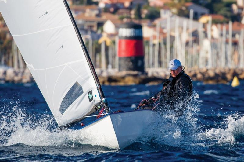Rod Davis at the OK Dinghy Europeans - photo © Robert Deaves