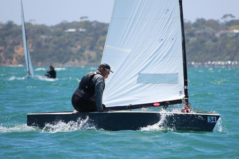 Andre Blasse at Black Rock - Australian OK Dinghy Nationals - photo © Lara Blasse
