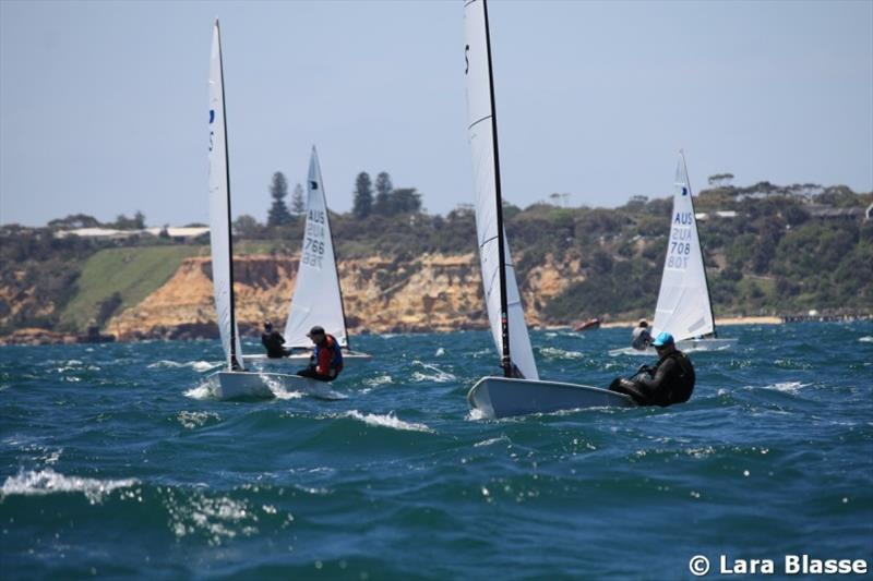 James Bevis leads upwind - Day 4 - Australian OK Dinghy Nationals - photo © Lara Blasse