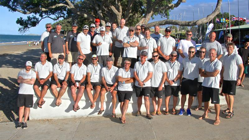 Kiwi team - Symonite OK Worlds, Wakatere BC - February photo copyright Richard Gladwell taken at Wakatere Boating Club and featuring the OK class