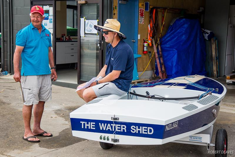 Triple Olympian Dan Slater (right) with former World OK Champion Greg Wilcox (NZL) - 2019 Symonite Int OK Dinghy World Championships, February 2019 - photo © Robert Deaves