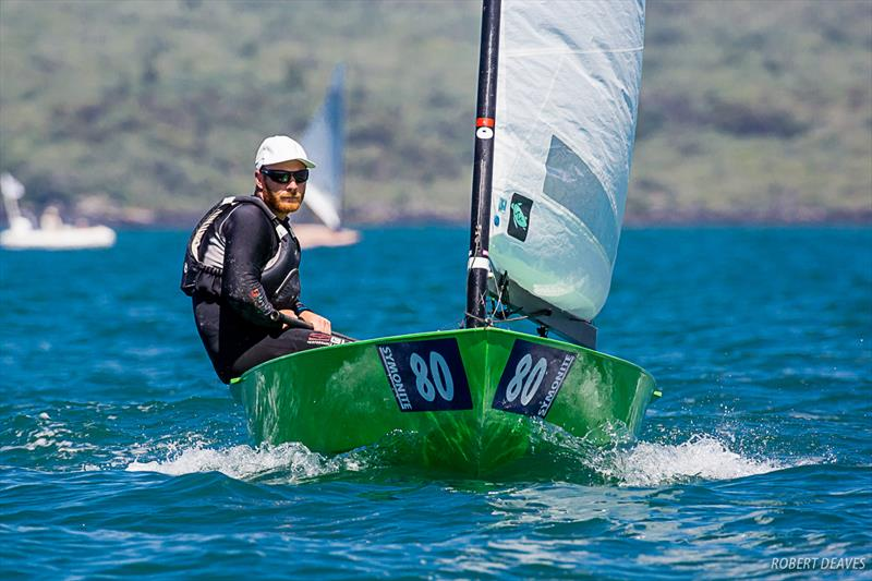 Luke O'Connell (NZL) - Day 1, 2019 Symonite OK Worlds , Wakatere BC, February 10, 2019 photo copyright Robert Deaves taken at Wakatere Boating Club and featuring the OK class
