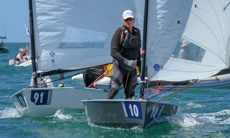 Rod Davis (NZL) - Symonite OK World Championships - Day 1, February 10, 2019 photo copyright Richard Gladwell taken at Wakatere Boating Club and featuring the OK class