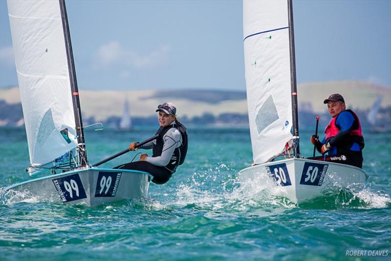 Olivia Christie is the leading woman in 58th overall - Symonite OK Dinghy Worlds, Day 3 - photo © Robert Deaves