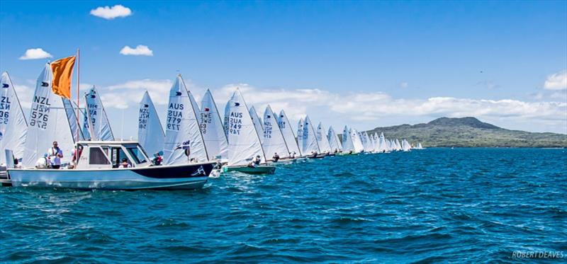 Race 9 start - Symonite OK Dinghy Worlds, Day 5 - photo © Robert Deaves