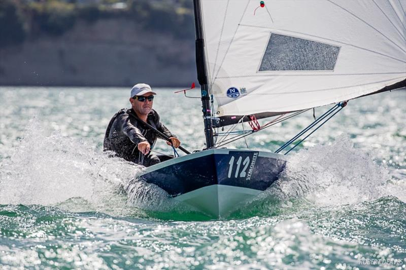 Dan Slater's winning hull was a Dan Leech design - 2019 Symonite OK Dinghy World Championship photo copyright Robert Deaves taken at Wakatere Boating Club and featuring the OK class