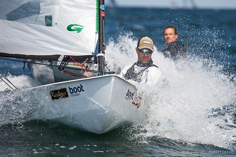 OK Dinghy European Championship at Kiel, Germany - Day 2: Lebrun and Lööf take wins