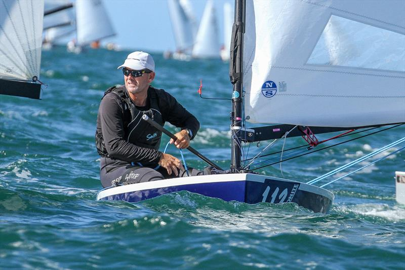 Dan Slater on his way to winning the 2019 OK Worlds, Wakatere Boating Club - photo © Richard Gladwell / Sail-World.com