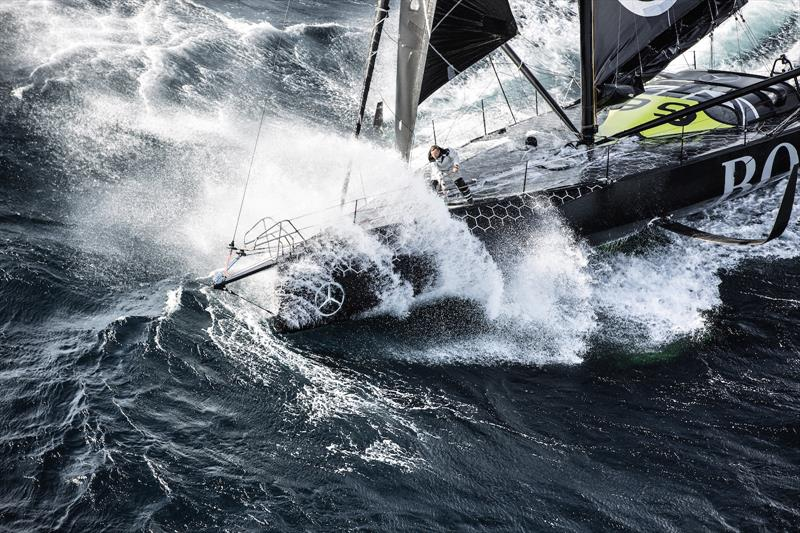 Alex Thompson on the IMOCA 60 Hugo Boss - photo © Hugo Boss