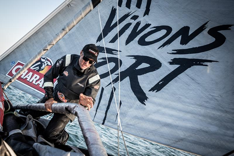 Jeremie Beyou has slipped back in the IMOCA fleet after reporting steering problems on Charal in the Route du Rhum - Destination Guadeloupe - photo © Eloi Stichelbaut