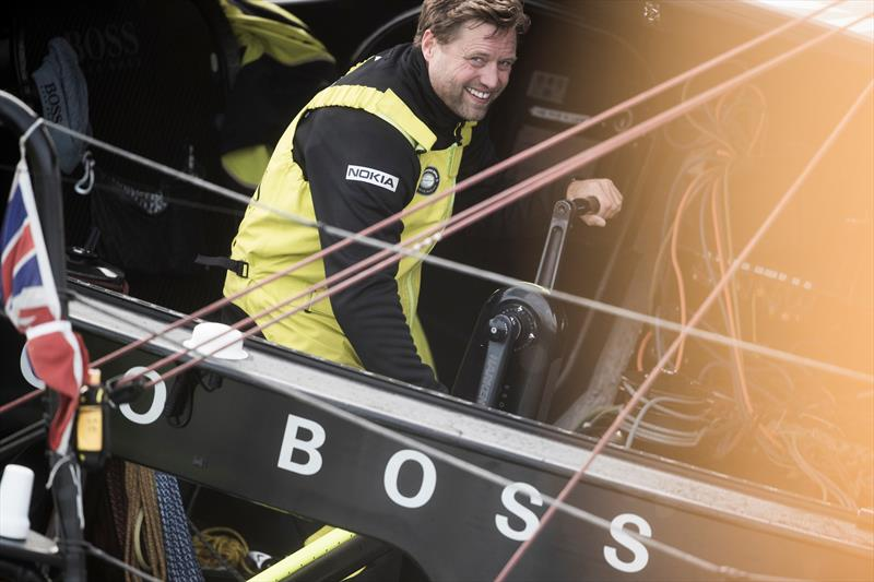 Alex Thomson at the start of the Route du Rhum - Destination Guadeloupe - photo © Lloyd Images