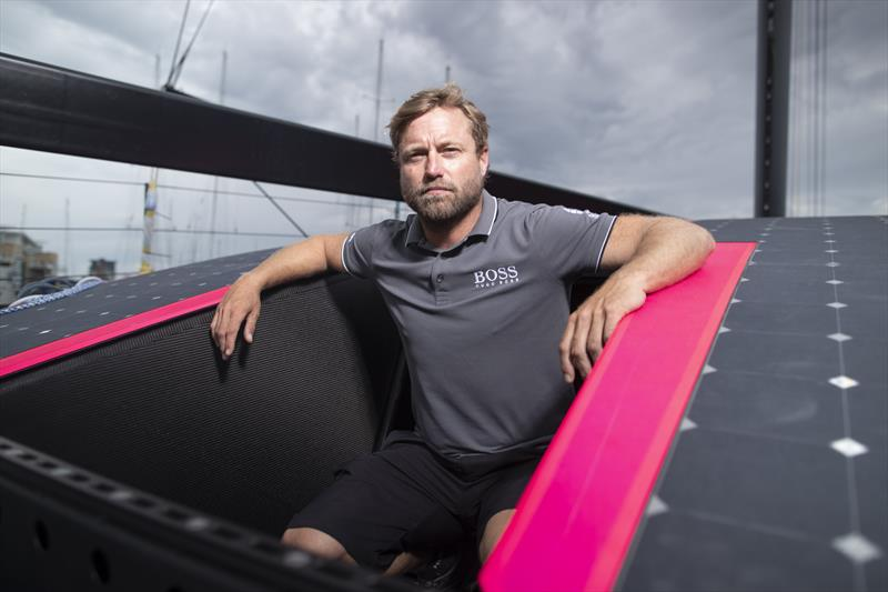 The radical new Hugo Boss IMOCA 60 aimed at winning the Vendee Globe photo copyright Lloyd Images taken at  and featuring the IMOCA class