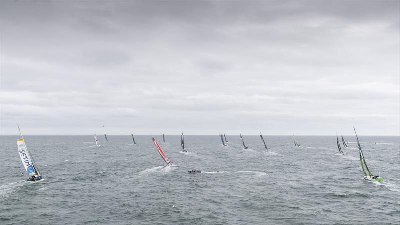 Vendée-Arctique-Les Sables d'Olonne Race 2020 start photo copyright Eloi Stichelbaut - polaRYSE / IMOCA taken at  and featuring the IMOCA class
