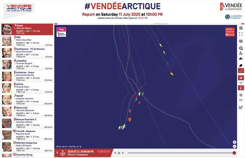 Vendée-Arctique-Les Sables d'Olonne Race standings - 11th July 10h00 FR - photo © IMOCA