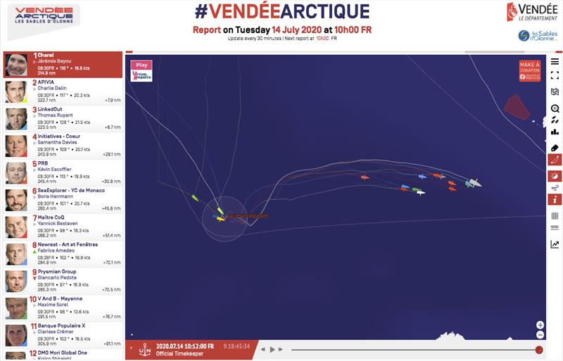 Vendée-Arctique-Les Sables d'Olonne Race standings - 14th July 10h00 FR - photo © IMOCA