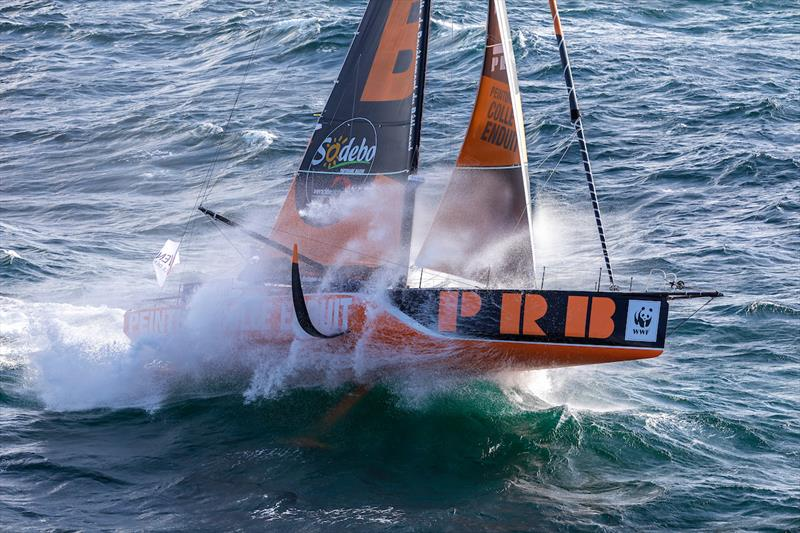 Kevin Escoffier on PRB during the Vendée Globe - photo © Jean-Marie Liot / Alea #VG2020