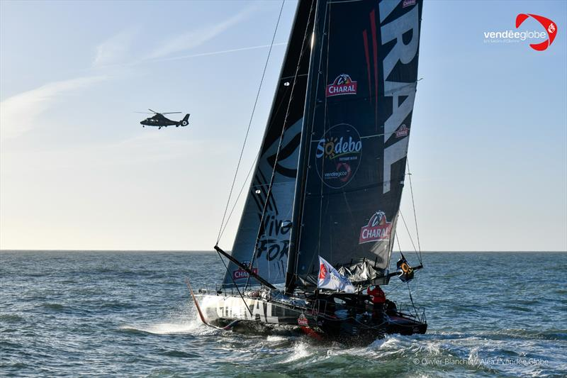 Jérémie Beyou (Charal) departs Les Sables d'Olonne for the second time in the Vendée Globe - photo © Olivier Blanchet / Alea #VG2020