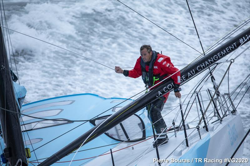 Thomas Ruyant on LinkedOut takes the lead in the Vendée Globe © Pierre Bouras / TR Racing #VG2020