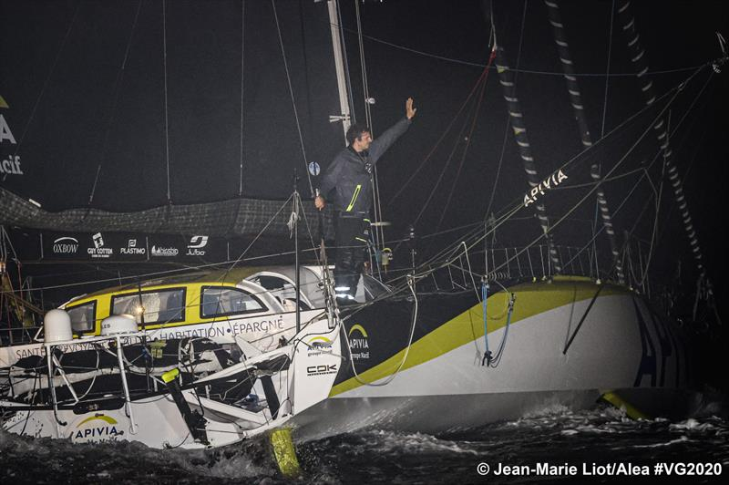 Line honours for Charlie Dalin on Apivia in the Vendée Globe - 80 days, 6 hours, 15 minutes, 47 seconds - photo © Jean-Marie Liot / Alea #VG2020