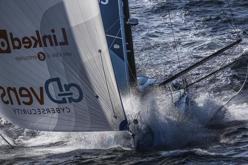 Racing down the coast of Portugal early in Leg 2 of The Ocean Race Europe from Cascais, Portugal, to Alicante, Spain © Sailing Energy / The Ocean Race