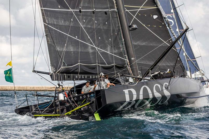 The complex stern of an IMOCA60 - Hugo Boss - Rolex Middle Sea Race - photo © Joe Watson/ Alex Thomson Racing