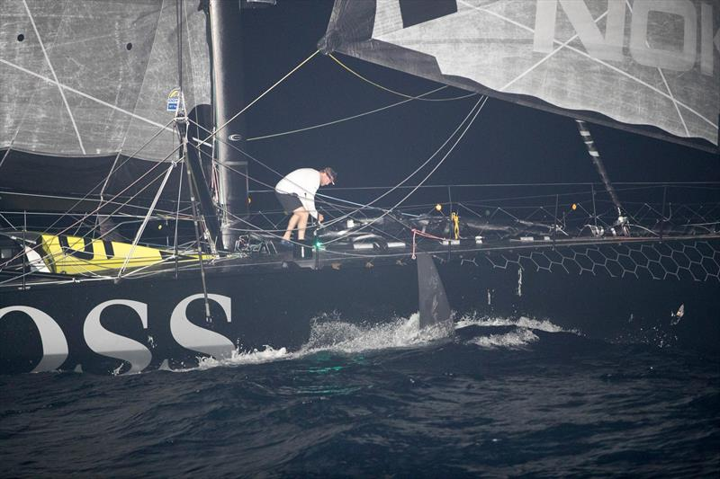 Alex Thomson - Hugo Boss - Images after terrain closure on Guadeloupe Island - photo © Alex Thomson Racing