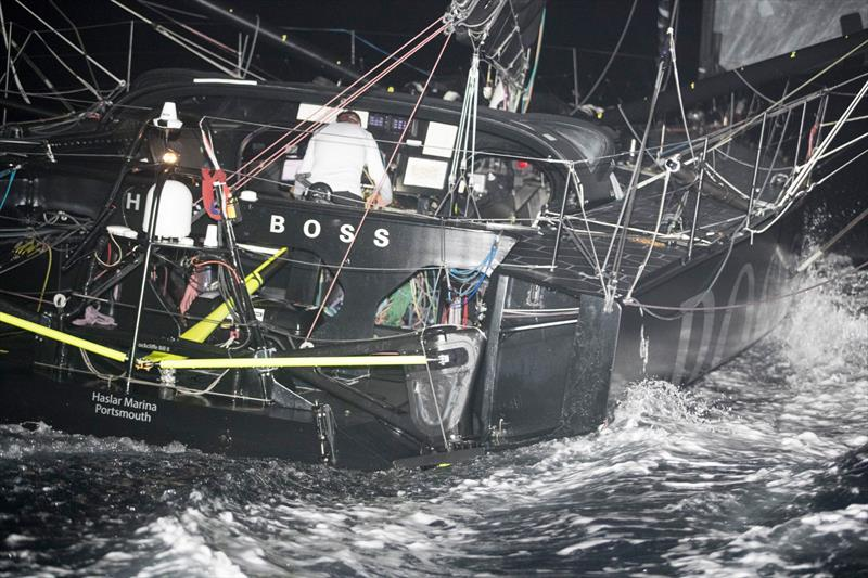 Alex Thomson - Hugo Boss - Images after terrain closure on Guadeloupe Island - photo © Alex Thomson Racing