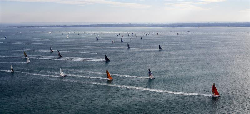 A magnificent start for the Route du Rhum off Saint-Malo - photo © Benoit Stichelbaut
