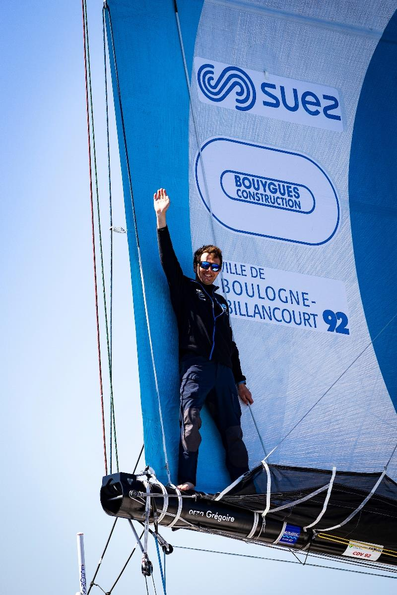Bermudes 1000 Race Douarnenez-Brest photo copyright David Branigan / Oceansport taken at  and featuring the Open 60 class