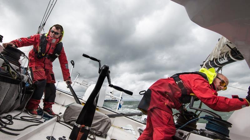 Ari Huusela with the Irish sailor Michael Ferguson for the Transatlantic Race. - photo © Ari Huusela Team
