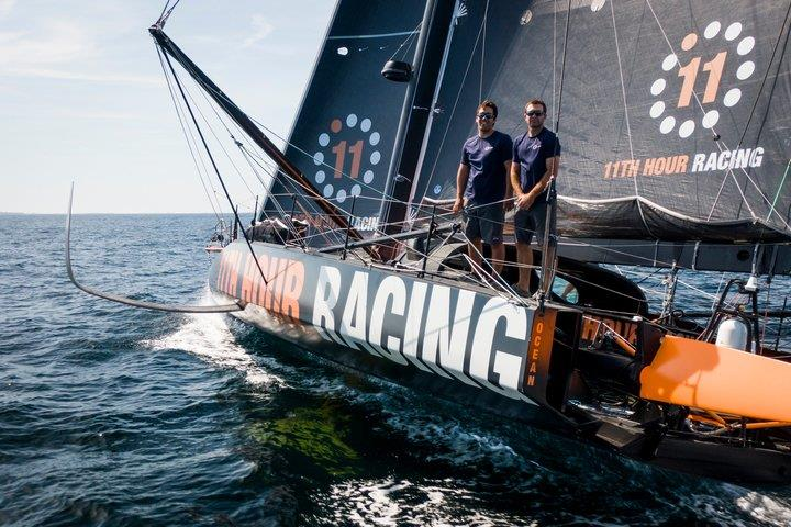 Mark Towill and Charlie Enright of 11th Hour Racing photo copyright Image courtesy of Amory Ross/11th Hour Racing taken at  and featuring the IMOCA class