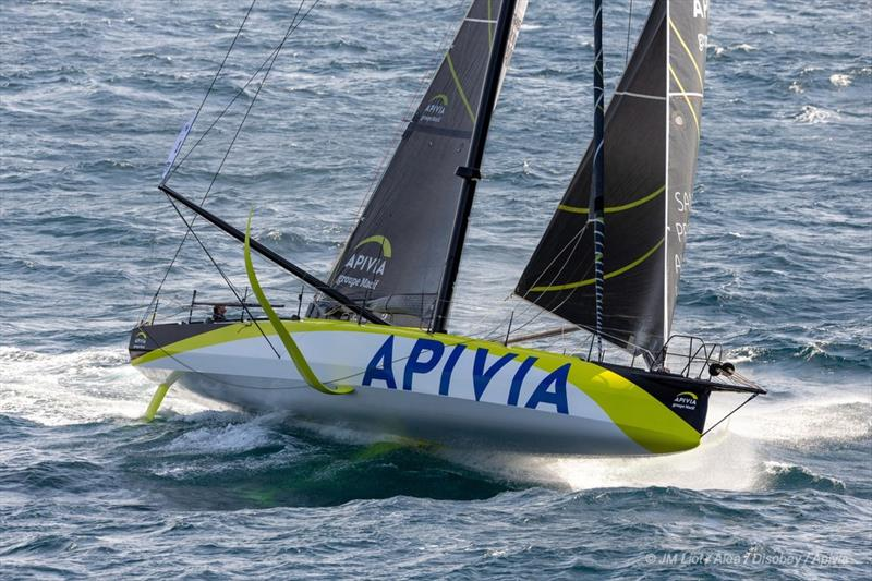 Vendee Globe: New IMOCA60 foiler Apivia is launched at Lorient