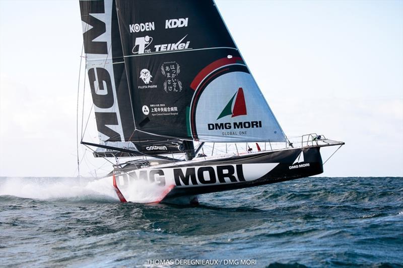 Kojiro Shiraishi - Dmg Mori Global One - IMOCA © Thomas Deregnieaux