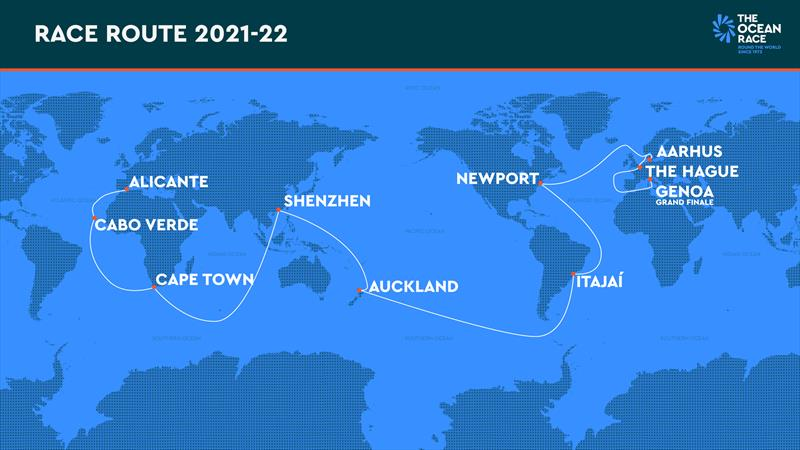 The final course for The Ocean Race 2021-22 - photo © The Ocean Race