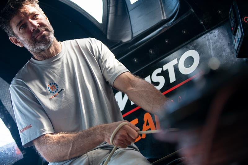 Simon Fisher - 11th Hour Racing Team member photo copyright Vestas  taken at  and featuring the IMOCA class