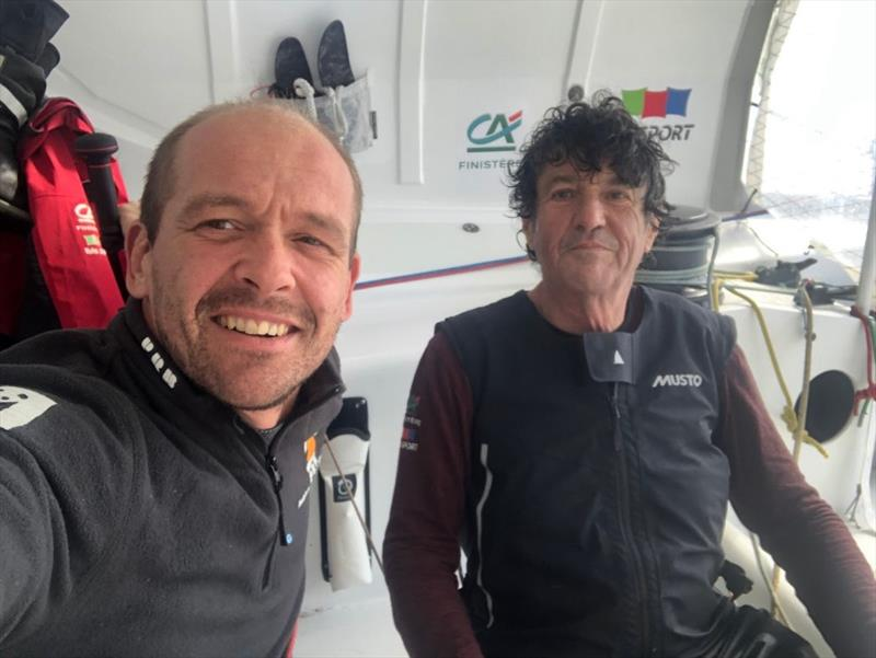 Kevin Escoffier & Jean Le Cam photo copyright Kevin Escoffier taken at  and featuring the IMOCA class