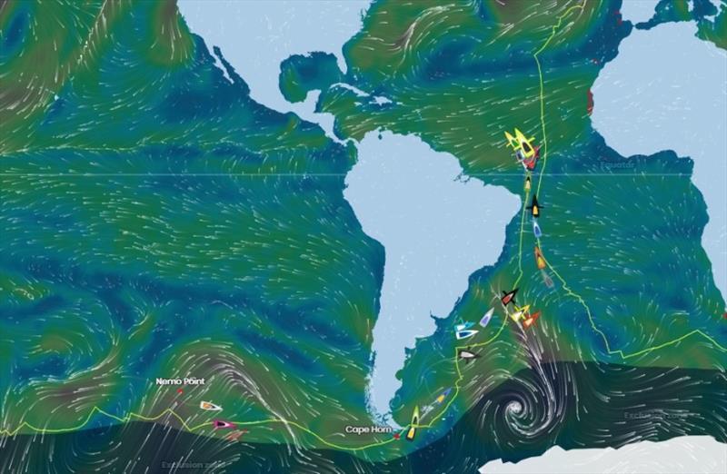 Vendée Globe Position Report 17H00 UTC 18/01/2021 - photo © Vendée Globe