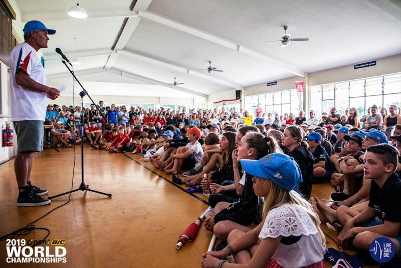 Five times America's Cup winner Russell Coutts at The Opening Ceremony for the 2019 O'Pen Bic World Championships hosted by Manly Sailing Club.  - photo © Live Sail Die