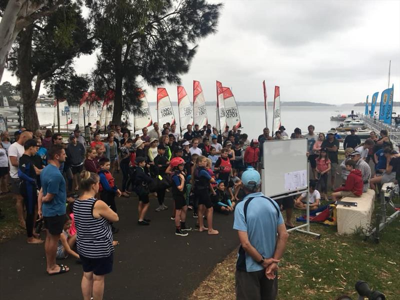 2019 NSW O'pen Skiff Champs & The Dolphin Chaser briefing - photo © James Lelaen