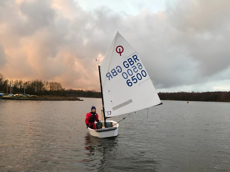 Optimist sailor Erin Tinkler photo copyright RYA North East taken at Scaling Dam Sailing Club and featuring the Optimist class