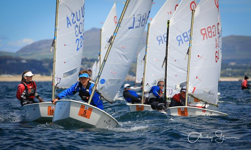 Close racing at the Volvo Gill British Optimist National and Open Championships - photo © Andy Green / www.greenseaphotography.co.uk