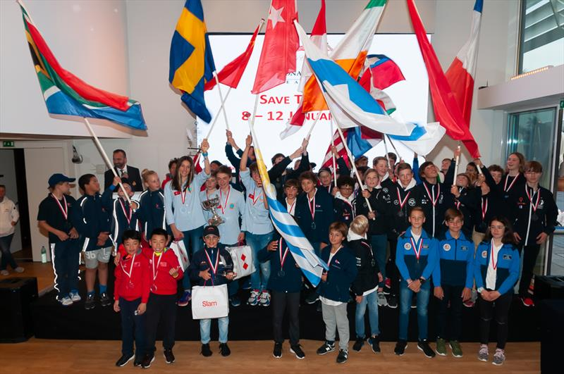 Monaco Optimist Team Race prize giving - photo © Martin Messmer