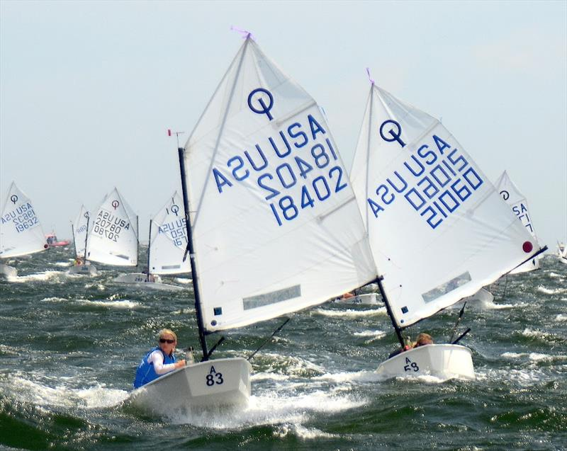 The Optimist Nationals at Pensacola Yacht Club are really three championships sailed in a week... the Optimist National Championship, the Optimist Girls National Championship, and the Optimist Team Race National Championship. - photo © Talbot Wilson