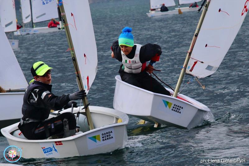 36th Lake Garda Optimist Meeting - Day 4 photo copyright Elena Giolai / Fraglia Vela Riva taken at Fraglia Vela Riva and featuring the Optimist class